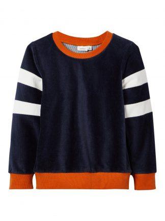 Name It genser chenille, mørke blå.