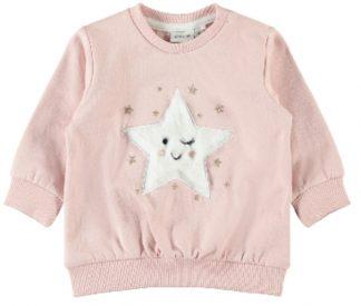 Name It genser stjerne, lys rosa.