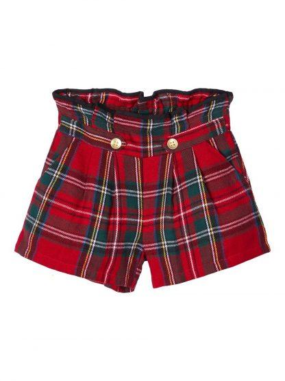 Rød shorts Name It, shorts til jente. – Shorts rød rutete shorts – Mio Trend