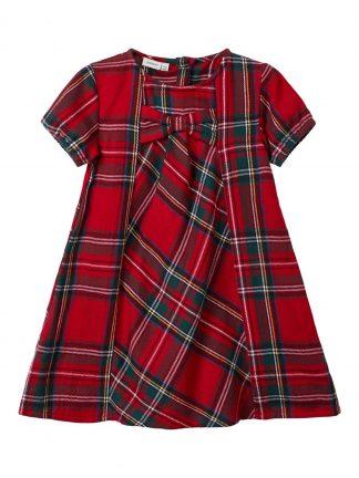 Rød rutete kjole barn