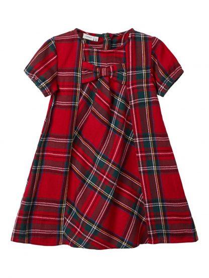 Rød rutete kjole barn – Penklær til jul rød rutete kjole Rabir – Mio Trend