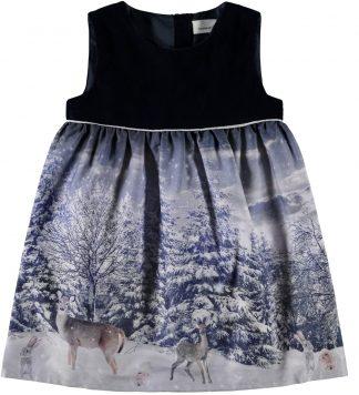 Blå julekjole barn, kjole fra Name It.