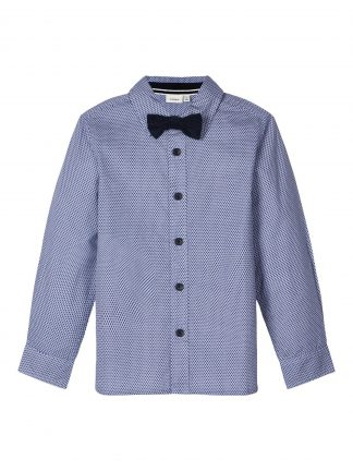 Blå penskjorte barn, skjorte fra Name It.