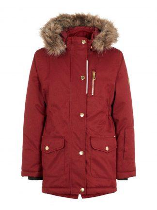 Vinterjakke jente, mørke rød boblejakke fra Name It.