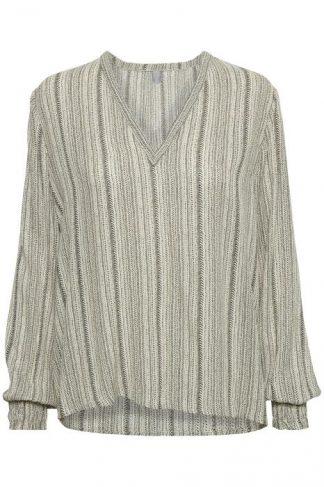 Culture bluse, grå bluser med mønster.