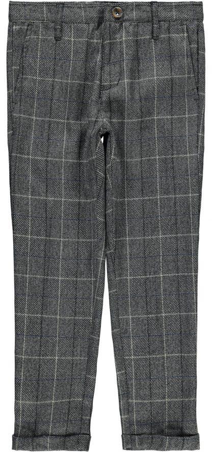 Grå penbukse gutt, fra Name It. – Penklær til jul grå bukse med ruter Roul – Mio Trend