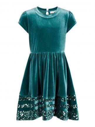 Grønn kjole jente, fra Name It.