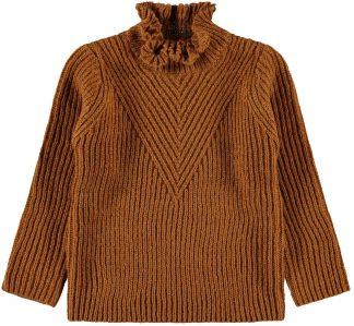 Brun genser til barn, fra Name It.