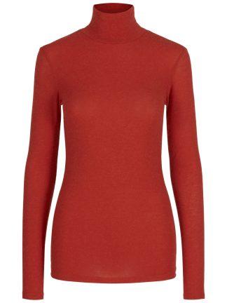 Rød pologenser dame, genser fra yas.