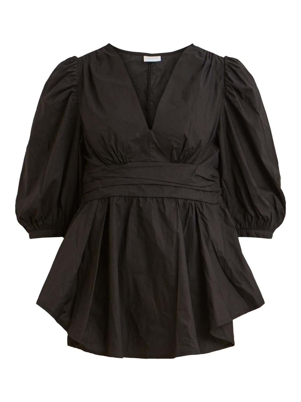 Sisters Point sort genser, svart genser med puffermer