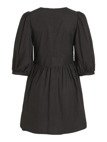 Vila kjole puffermer, sort kort kjole.