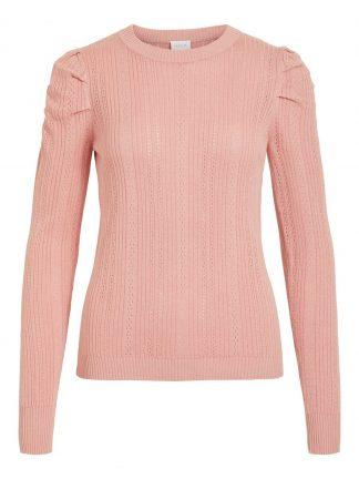 Vila genser puffermer, rosa genser.