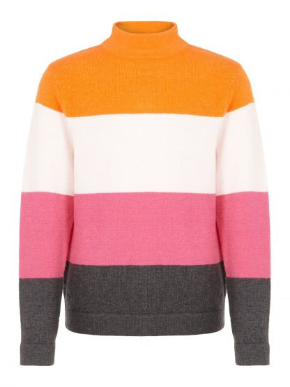 Genser Name It, strikkegenser til jente. – Name It genser med striper Vulia – Mio Trend