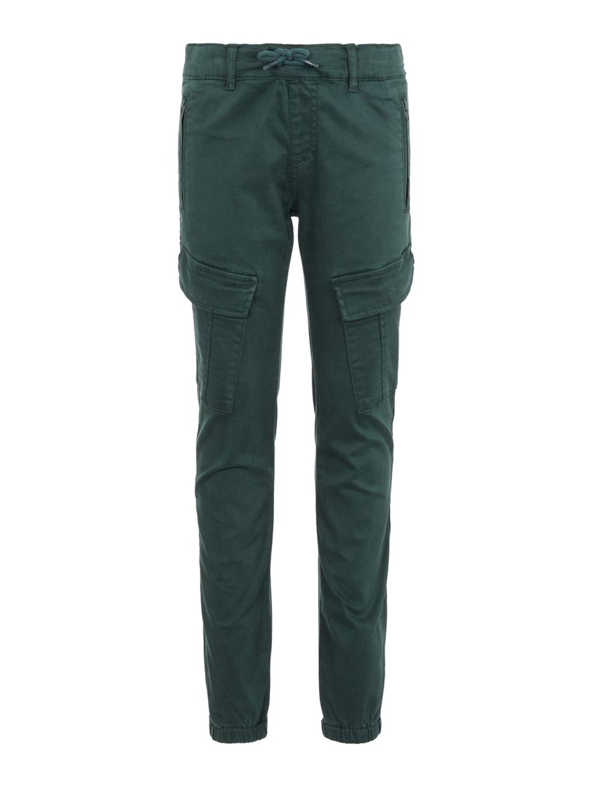 Bukse med lommer på sidene, grønn | FINN.no