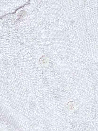 Hvit strikkejakke baby