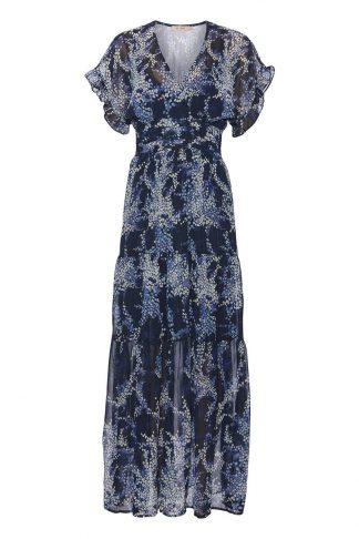 Blå lang kjole