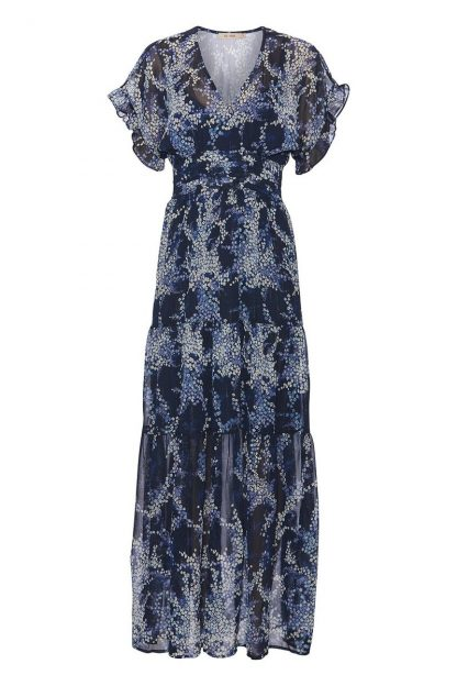 Blå lang kjole – Rue de Femme lang blå kjole – Mio Trend