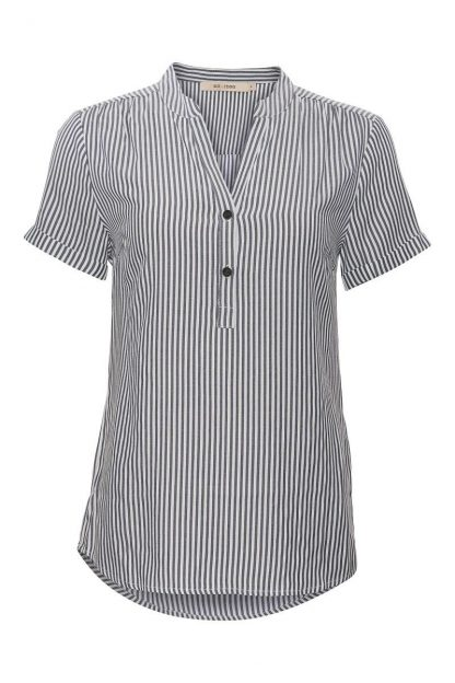 Skjorte striper Rue de Femme – Rue de Femme blå og hvit skjorte med korte armer  – Mio Trend