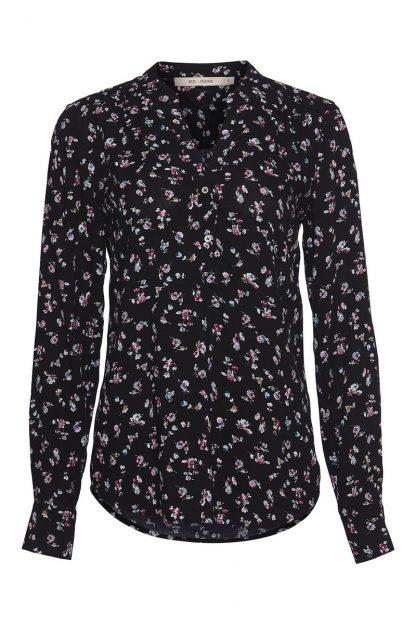 Bluse blomster Rue de Femme – Rue de Femme sort bluse med blomster Doodle – Mio Trend