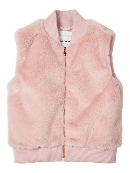 Rosa pelsvest til barn – Skjorter og vester rosa pelsvest  – Mio Trend