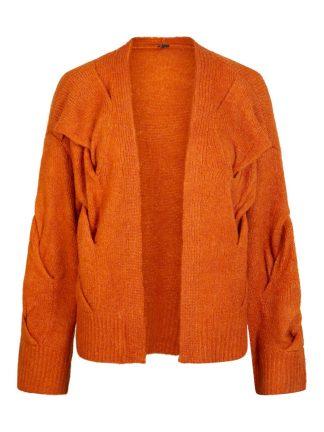 Yas oransje strikkejakke