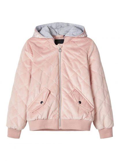 Bomberjakke barn jente – Name It rosa vattert bomberjakke Marla – Mio Trend
