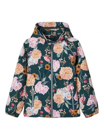 Jakke softshell jente – Name It grønn softshelljakke med blomster – Mio Trend