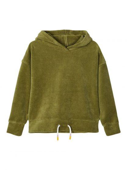 Genser velur barn – Name It grønn genser i velur Dilme – Mio Trend