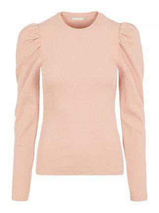 Rosa genser puffermer
