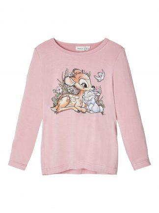 Rosa genser viskose