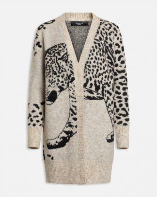 Jakke med leopard