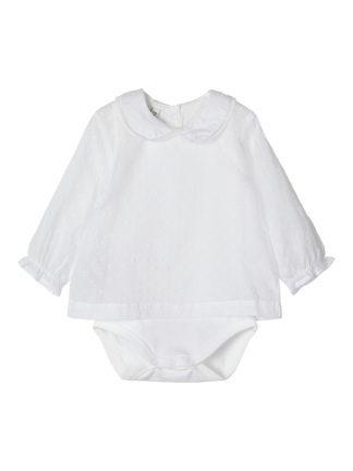 Hvit bluse til baby