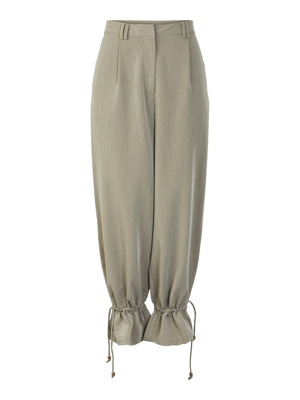 grønn high waist bukse Gina