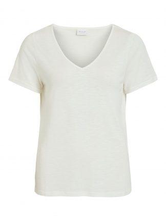 Vila t-skjorte v-hals