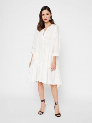 Hvit kjole YasHvit