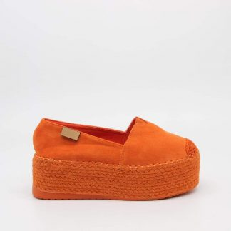 Oransje espadrillos sko