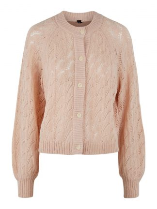 Lys rosa strikkejakke