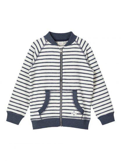 Stripete jakke barn – Name It blå stripete cardigan Fariko – Mio Trend