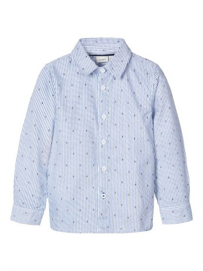 Name It skjorte – Skjorter og vester blå stripete skjorte Dodo mini – Mio Trend