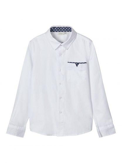 Hvit penskjorte gutt – Skjorter og vester hvit penskjorte Finwhale – Mio Trend