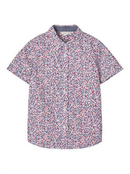 Kortermet skjorte gutt – Skjorter og vester rød skjorte kort arm – Mio Trend