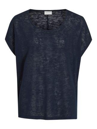 Marineblå t-skjorte Vila