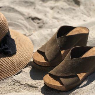 Brune sandaler skinn