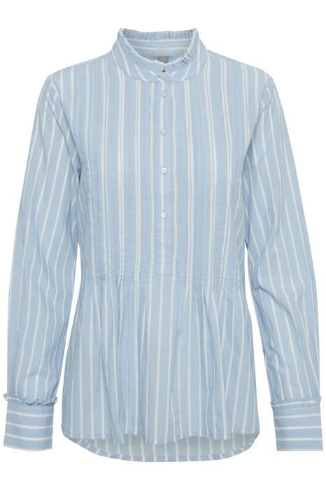 lyseblå bluse med striper Aimi MioTrend