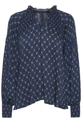 Culture marineblå bluse