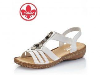 Hvit sandal Rieker
