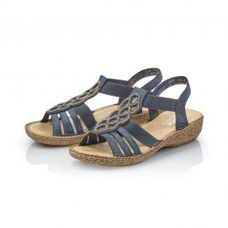 Blå sandal Rieker
