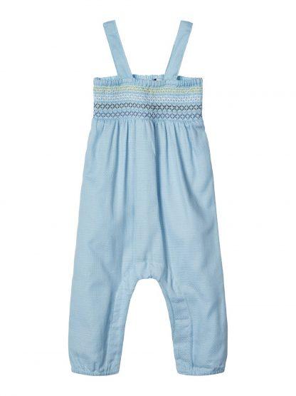 Snekkerbukse baby jente – Sparkebukse/overall lyse blå overall Falka – Mio Trend
