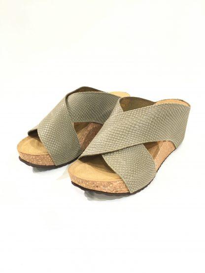 Frances sandal Copenhagen Shoes – Copenhagen Shoes grå/grønn sandal Frances snake – Mio Trend
