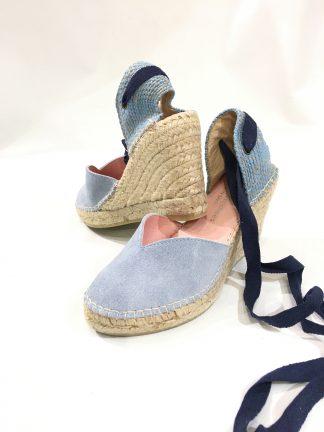Blå sandaler kilehel